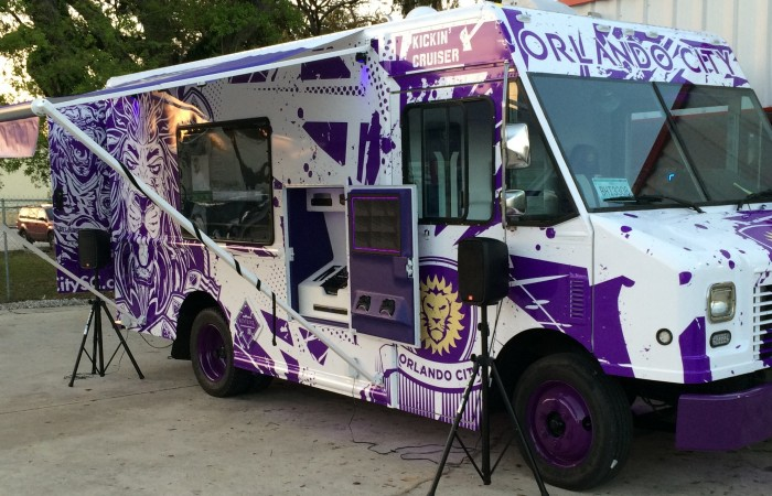 Orlando City Soccer Truck Wrap