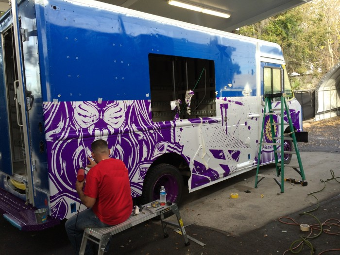 Custom Truck wrap Orlando florida
