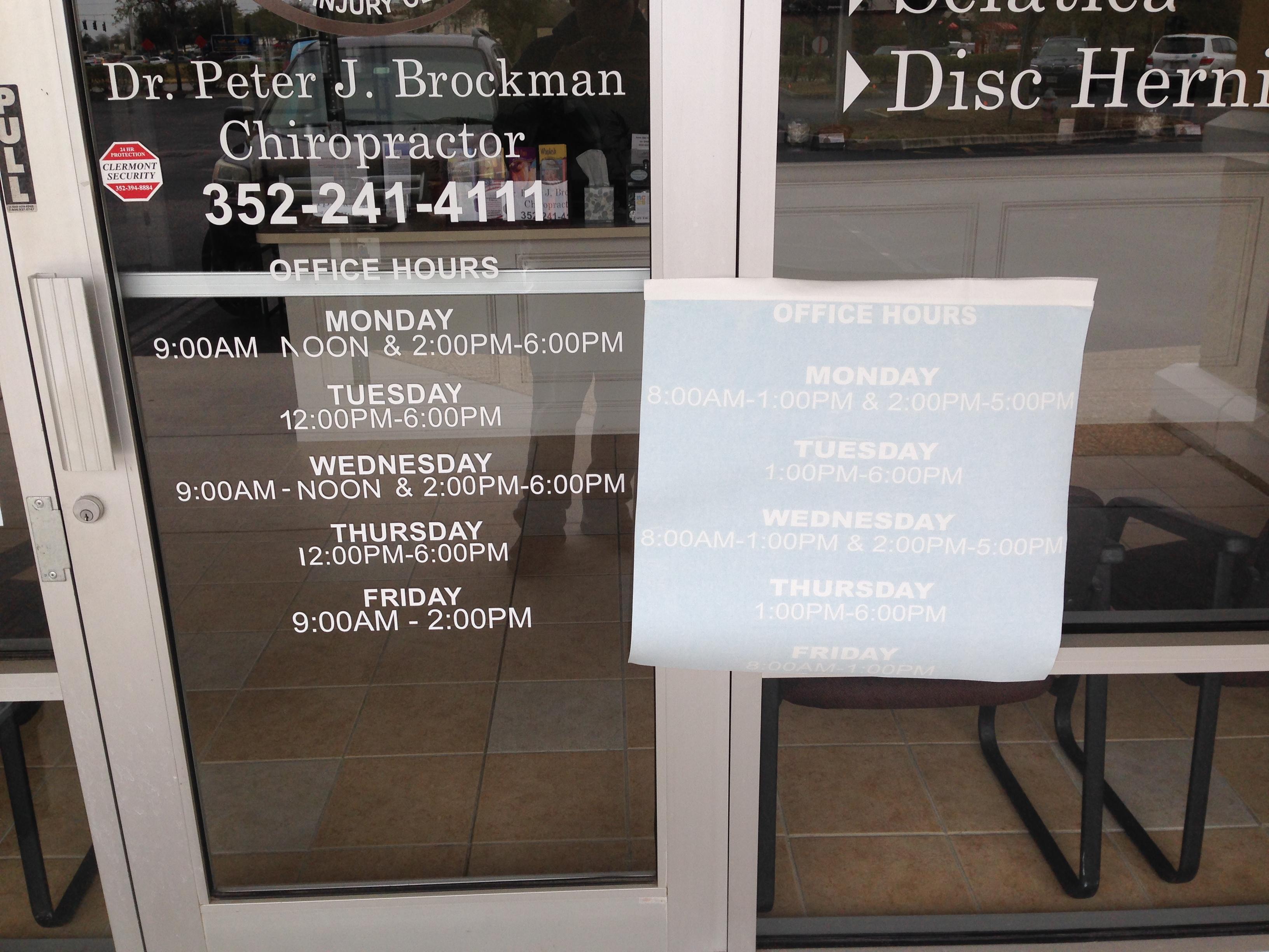 New business hours vinyl numbers on front door Orlando, FL