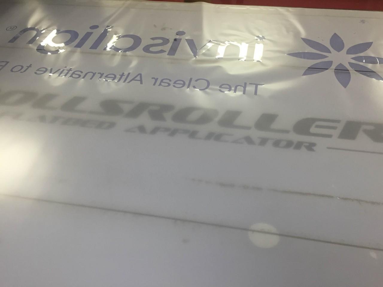 Custom Logo Negative Space Frost Vinyl