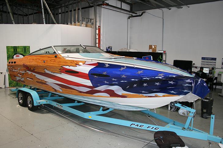 Custom Boat Wrap Designs Decals Lettering  Cost Design Print Plus - Boat graphic design decals